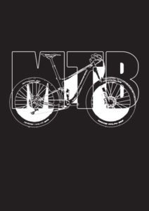 Black and white mountain bike design